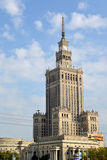 WARSAW, POLAND. Palace of culture and sciences against the background of the sky Stock Images