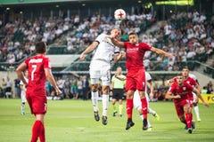 11.08.2017, Warsaw, Poland, Polish Top League Match: Legia Warszawa - Piast Gliwice. O/p Maciej Dabrowski, Hebert Stock Photos