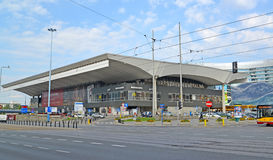 WARSAW, POLAND. Railway station Warsaw-central. royalty free stock photography