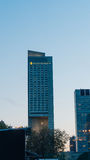 WARSAW, POLAND - SEP 02: Intercontinental hotel in Warsaw. The highest hotel in Poland and third highest in Europe, on September, 2016. Well-known for a unique Royalty Free Stock Photography