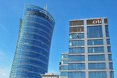 Citi Bank office building. Warsaw,Poland. 27 September 2017. Citi Bank office building Stock Photos