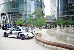 Kawa i Samochody - DaftCafe show meeting in Warsaw Spire Royalty Free Stock Photo