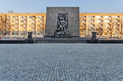 WARSAW, POLAND - SEPTEMBER 10, 2015 The Monument to the Ghetto Heroes commemorates the fight against the Nazis during the uprising Stock Photo