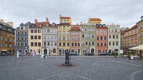 Old Town Market Place of Warsaw, Poland Stock Image