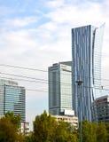 WARSAW, POLAND. Skyscrapers and InterContinenttal Warszawa hotel near Sredmestye Royalty Free Stock Photography