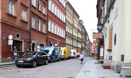 Warsaw, Poland. The small street in the old town Stock Images