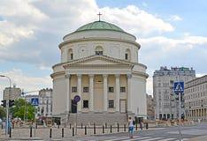 WARSAW, POLAND .St. Alexander`s church on the Stock Photos