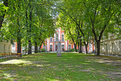 WARSAW, POLAND. View of a court yard of Academy of fine arts Royalty Free Stock Photos