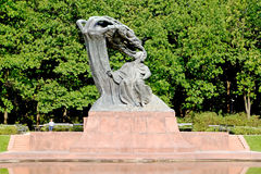 WARSAW, POLAND. A view of a monument to Frederic Chopin in summer day Royalty Free Stock Photos
