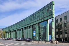 Warsaw, Poland - Warsaw University Library main building in the. Warsaw, Masovia / Poland - 2018/04/15: Warsaw University Library main building in the Powisle stock image