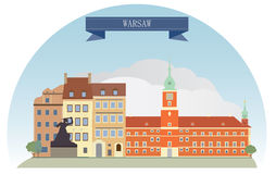 Warsaw. Poland. For you design Royalty Free Stock Image