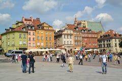 WARSAW, POLAND. Zamkovaya square in summer day stock image