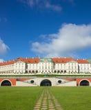 """Warsaw Polen Gammal stad - berömd kunglig för """"fter för slott Ñ restaurati Arkivfoto"""