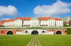 """Warsaw Polen Gammal stad - berömd kunglig för """"fter för slott Ñ restaurati Royaltyfri Fotografi"""