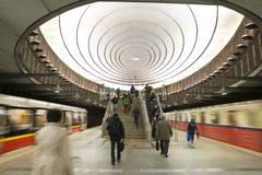 Warsaw - Polland. Warsaw -  the subway Plac Wilsona station Royalty Free Stock Image