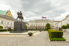 Warsaw. Presidential Palace and the area. Royalty Free Stock Photo
