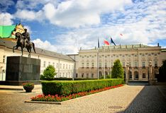 Warsaw Presidential Palace of Poland Stock Image
