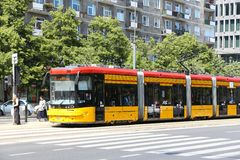 Free Warsaw Public Transport Royalty Free Stock Image - 73688726