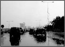 Warsaw rain Stock Photography