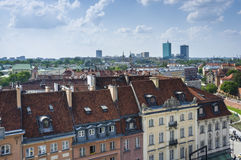 Warsaw roofs Stock Photo