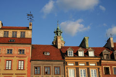 Warsaw roofs. Roofs of old apartments in Warsaw's Old Town square Stock Photography