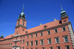 Warsaw royal palace Royalty Free Stock Photos