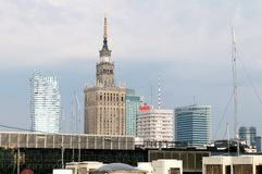 Warsaw's famous buildings Stock Images