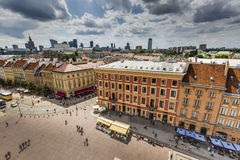Warsaw's historic Old Town is the only restored city inscribed o Royalty Free Stock Photography