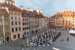 Warsaw`s Old Town Stare Miasto is the historical center of Warsaw royalty free stock photography