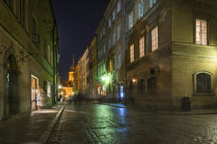 Warsaw's Old Town street at historic district Royalty Free Stock Photo