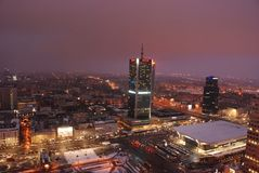 Warsaw's skyscrapers Royalty Free Stock Photo