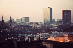 Warsaw skyline Stock Photography