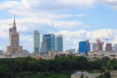 Warsaw Skyline Stock Photos