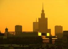Warsaw skyline Stock Image