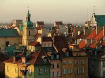 Warsaw skyline - Oldtown, Poland Stock Images