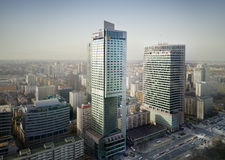 Warsaw skyline Royalty Free Stock Image