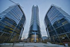 Warsaw Spire building view Royalty Free Stock Photos