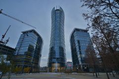 Warsaw Spire building view Stock Photography