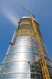 Warsaw Spire under construction Stock Photo
