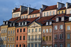 Warsaw square houses Stock Photography