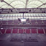 Warsaw stadium. Empty stadium in Warsaw Royalty Free Stock Photography