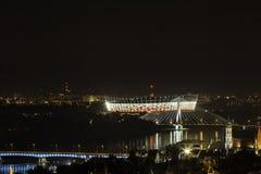 Warsaw stadium at night Royalty Free Stock Image