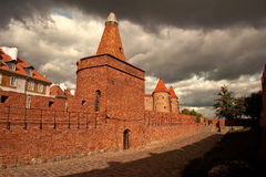 Warsaw Stare Miasto. Old City in Warsaw, Poland. Old Fortress walls Royalty Free Stock Photography