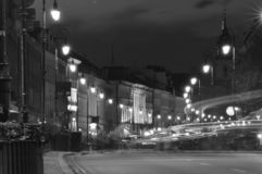 Street in Warsaw royalty free stock photography