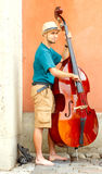 Warsaw. Street musicians Royalty Free Stock Photo