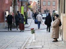 Warsaw street vendor Royalty Free Stock Images