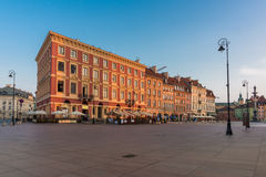 Warsaw Street View in the Morning Royalty Free Stock Photos
