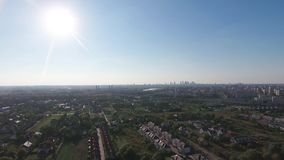 Warsaw suburbs view from above stock footage