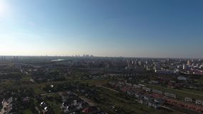 Warsaw suburbs view from above stock video