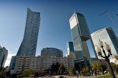 Warsaw towers Royalty Free Stock Photos